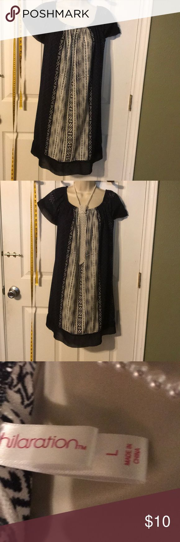 Dress Blue and White Dress.  Good condition no tears or stains. Xhilaration Dresses Midi