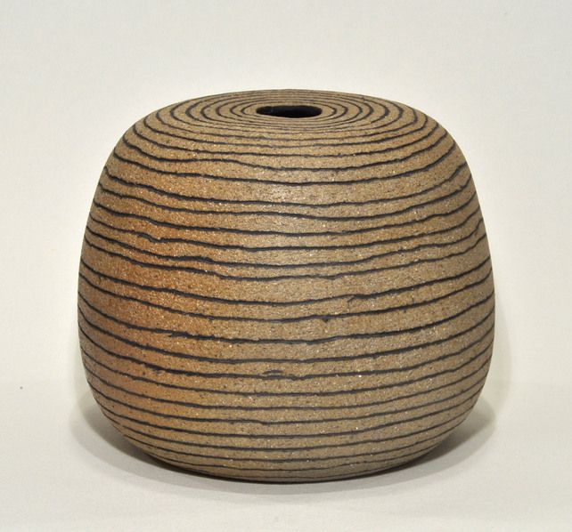 A wood-fired, stoneware vase £22.00