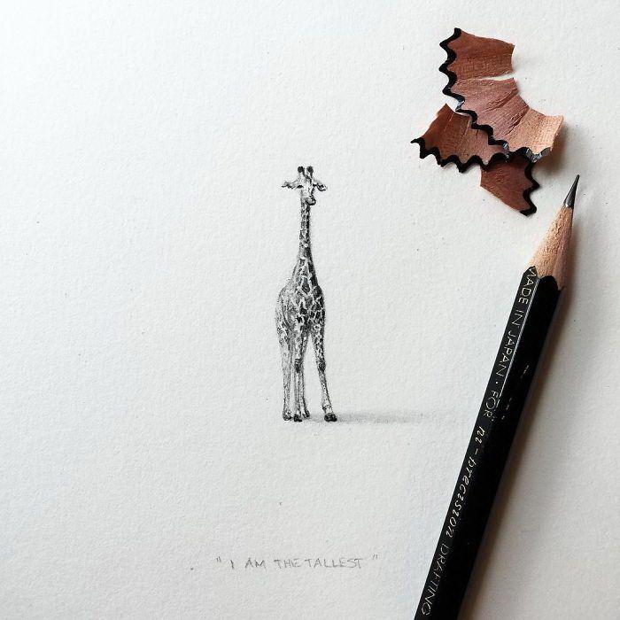 Миниатюрные картинки для срисовки карандашом