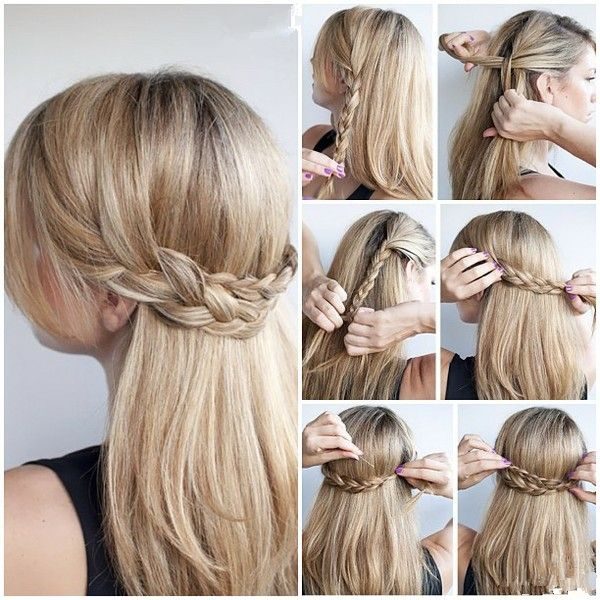 10 Half Up Braid Hairstyles Ideas Hairstyles Hair Styles Hair