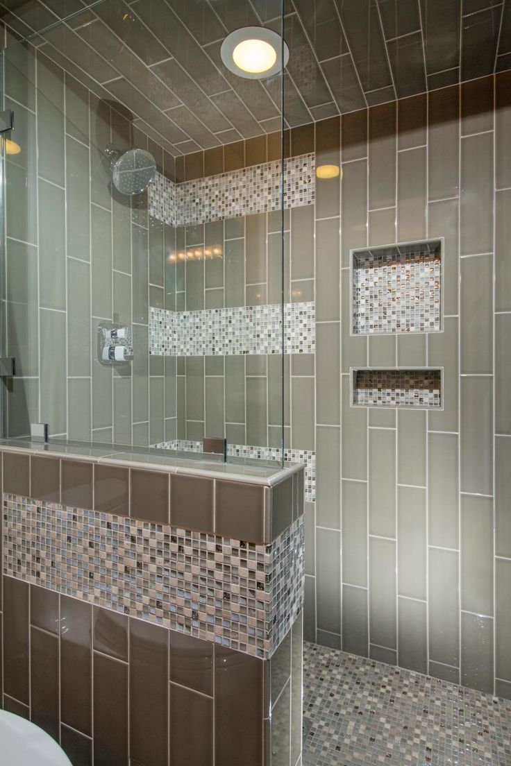 Long Modern Tiles Are Arranged Vertically To Visually