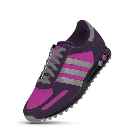 adidas mi LA Trainer Custom Shoes. Don't know what I'd wear purple shoes with, but I like the style