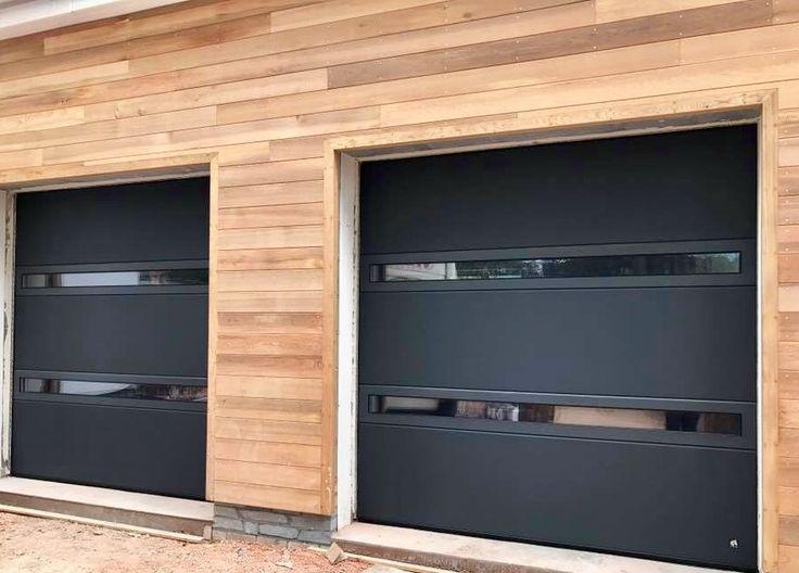 Ryterna Slimline Sectional Garage Doors Anthracite Grey Ral 7016 Garage Door Design Garage Doors Modern Garage Doors