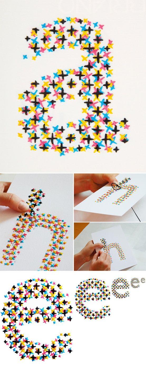 Cross-stitch CMYK by Evelin Kasikov - love!.