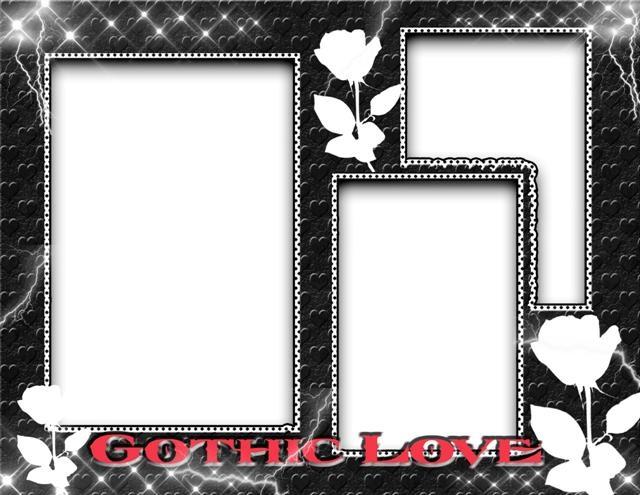 Marco para 3 fotos inspirado en el amor gothic - Frames