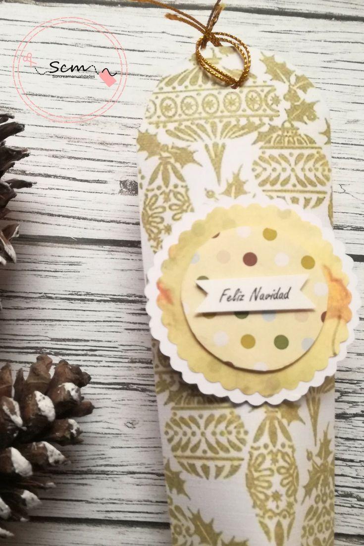 Cajita para regalar en Navidad scrapbook DIY