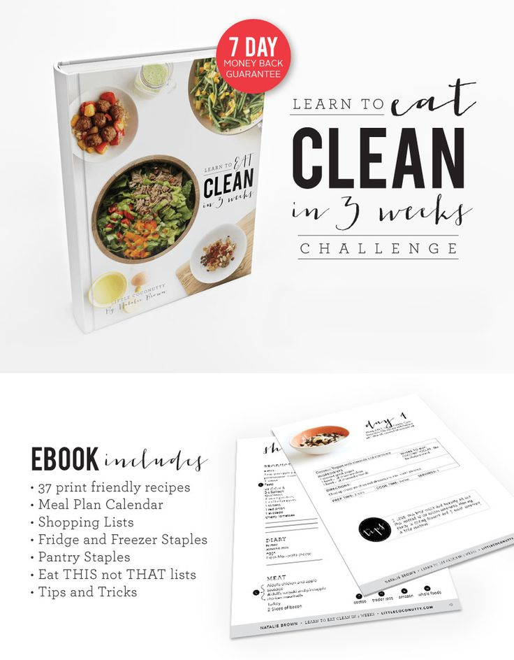 Delicious and easy Paleo and Whole30 Recipes and 3 week meal plan. Learn how to EAT CLEAN in 3 Weeks! Comes with shopping lists and tips.