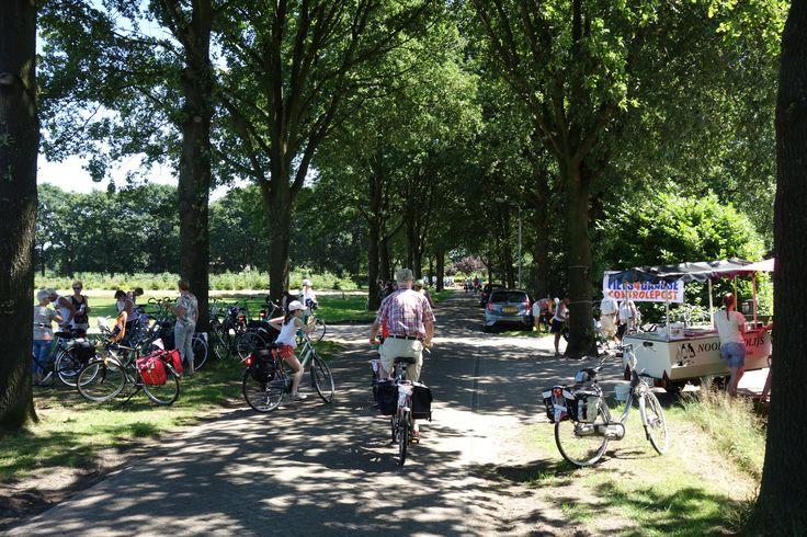 Fiets4daagse 2016: Vandaag ging de route  vanuit Emmen naar Schoonebeek, althans voor de 60 km rijders. Lokale zonkrachtmeting van meteo Schoonebeek was 5.9 maximaal, wat minder dan de voorspelde 7. In Bilthoven kwam men wel tot 7.1. Verwachting voor woensdag, iets hogere temperaturen en opnieuw zonkracht 7. Geen paniek, gewoon fietsen maar wel voldoende kleding enzovoorts, voldoende water drinken natuurlijk en vooral weer genieten van mooi Drenthe.