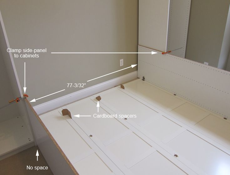 Instructions on how to make murphy bed from Ikea cabinets - Jerry's Projects