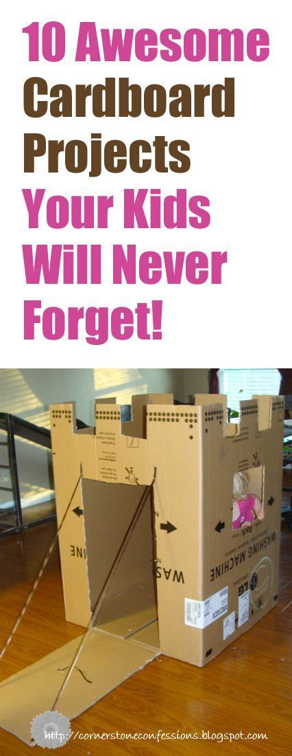 With summer coming up, these cardboard projects look like fun ways to keep the kids entertained!