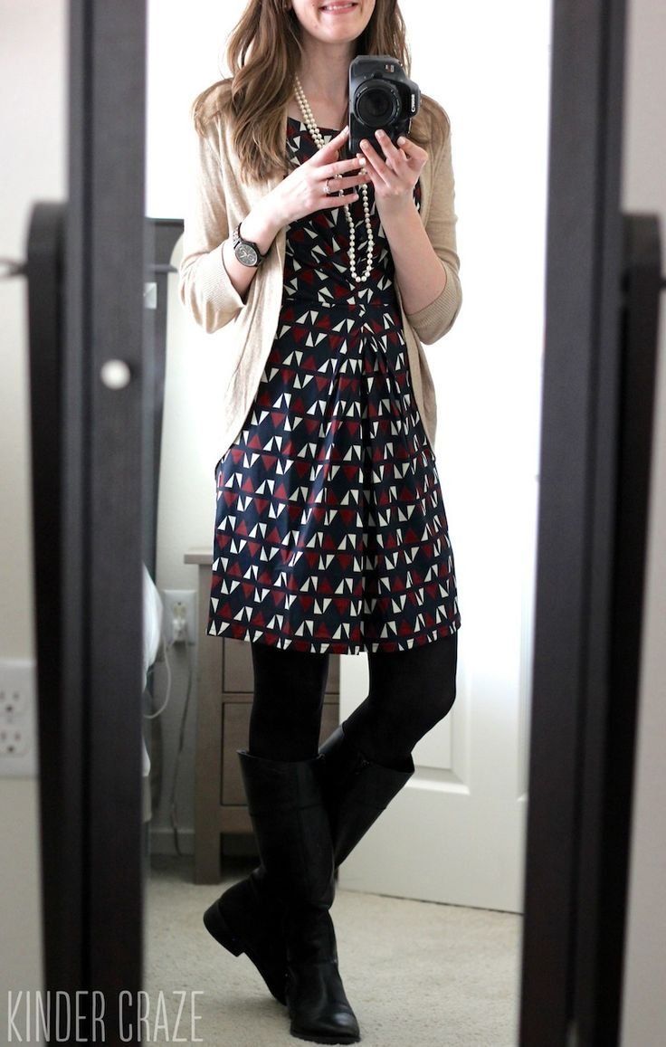 I would like to learn to wear dresses.  I like the tights as opposed to bare legs,