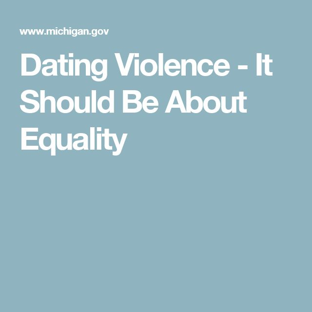 Dating Violence - It Should Be About Equality