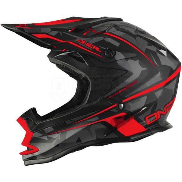 2016 ONeal 7 Series Evo Motocross Helmet - Camo Grey Red
