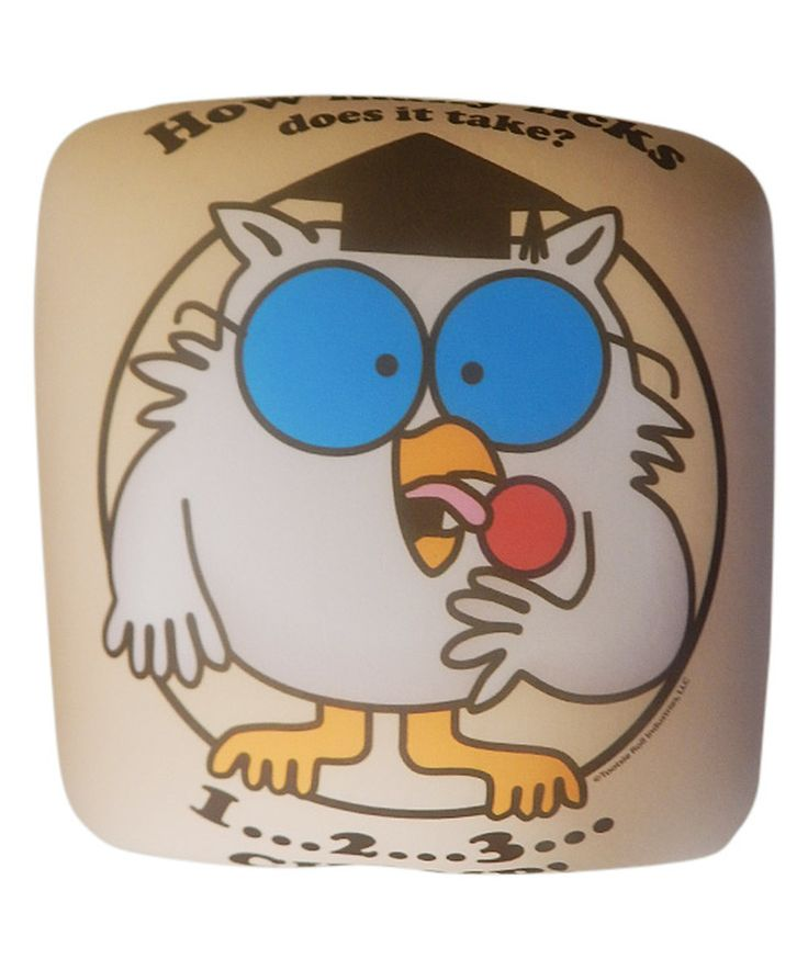 Look at this #zulilyfind! Tootsie Roll Pops Owl Throw Pillow by Nestlé #zulilyfinds