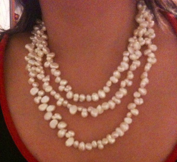 Perlas pearl collar jewelry