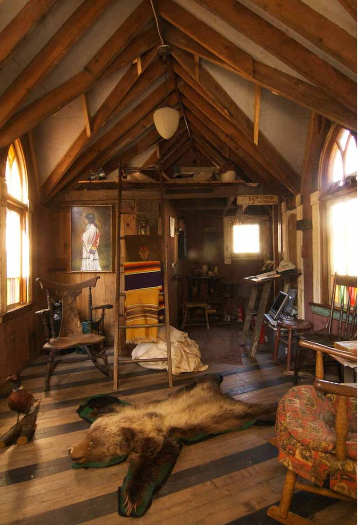 Brent Ahmicasaube S Gothic Cabin Built Entirely From
