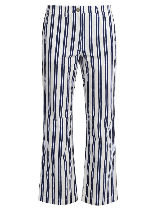 M.i.h Jeans Pantalon raccourci à rayures Coler