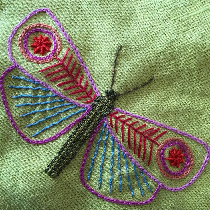 "147 Me gusta, 6 comentarios - Nancy Nicholson (@nancynicholsondesign) en Instagram: ""Finished butterfly #handembroidery #embroidery #butterflies"""