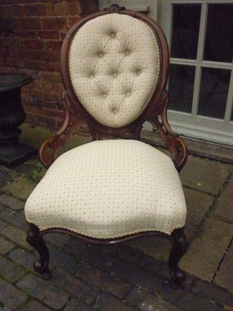 Antique Victorian Ladies Nursing Chair
