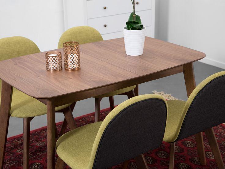 ELINA Förlängningsbart bord 120 Valnöt - Matbord - Bord - Inomh