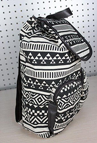 Unisex Bohemia Boho Ethnic Pattern Canvas Backpack School College Laptop Bag for Teens Girls Boys Students, Black & White .- Click image twice for more info - See a larger selection of boys teens backpacks - kids, boys, little boys, school supplies, kids fashion , teenager, bags.