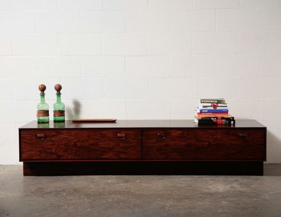 Rosewood Long Low Credenza or Bench