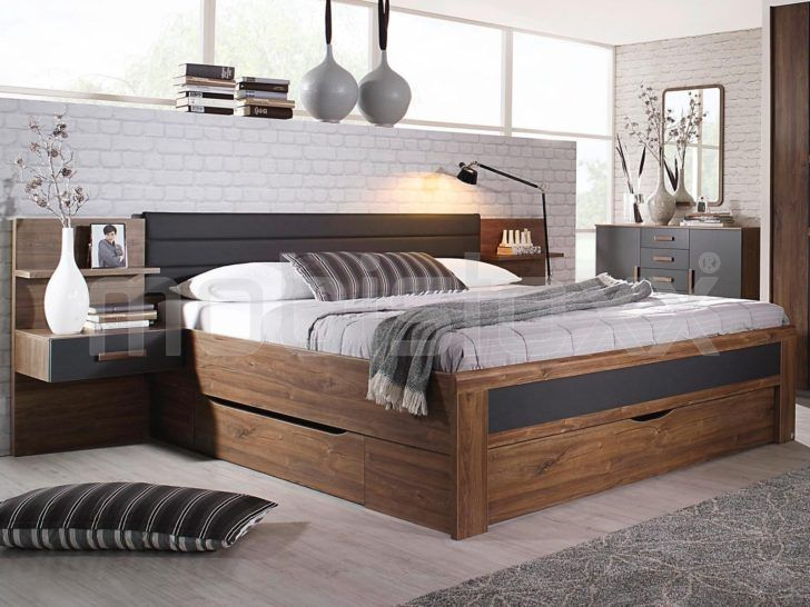Interior Design Lit Avec Rangement 160x200 Lit Bernie 160x200 Cm Noyer Gris Metal Avec Trois Tiroirs Rangement 0a3p Mobilier De Salon Lit Rangement Meuble Deco