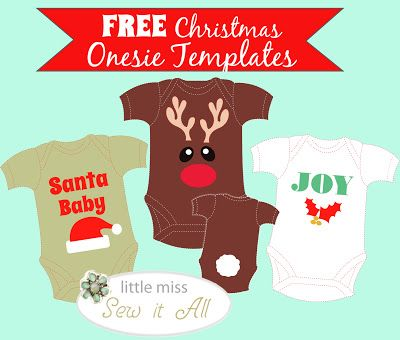 Christmas templates for baby onesie