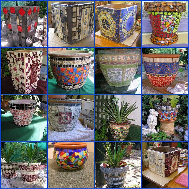 Mosaic Pots For 2009