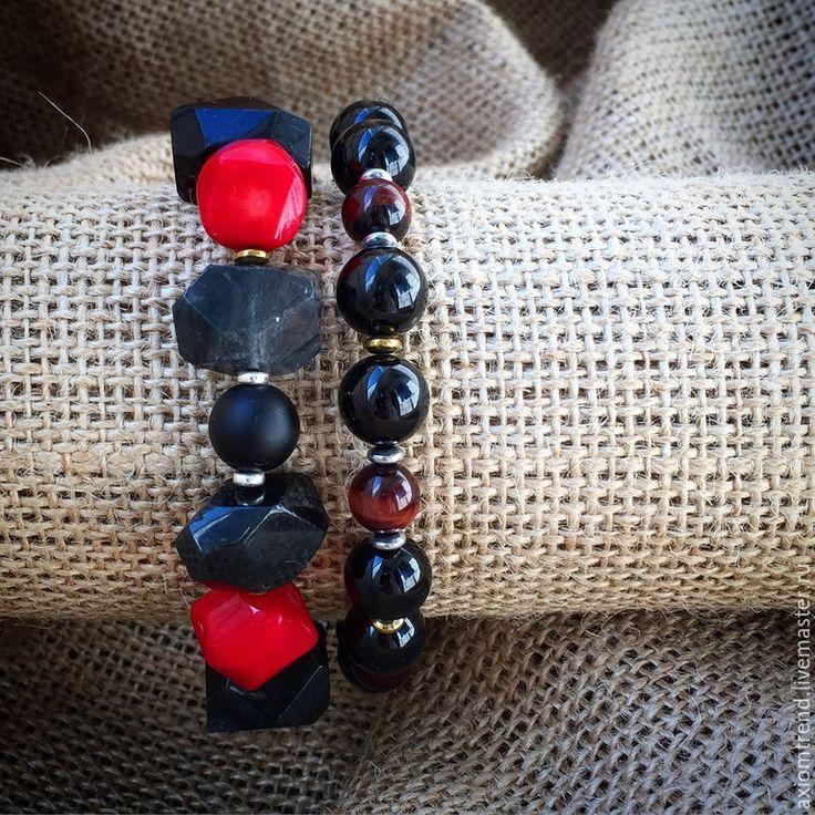 """Купить Мужской Set браслетов """"Сердце"""" из коллекции """"Pharaoh"""" - разноцветный, комплект украшений, комплект браслетов"""