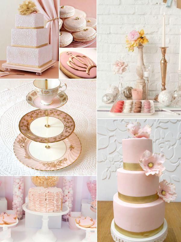 Pink & Gold Wedding Colors — Wedding Ideas, Wedding Trends, and Wedding Galleries