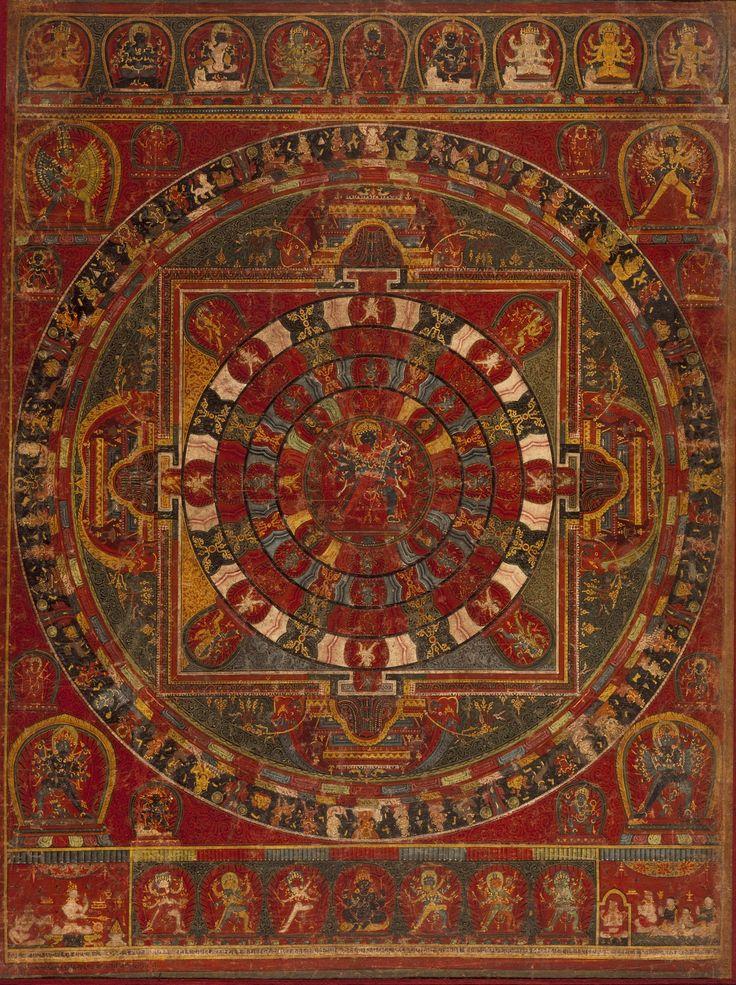 Chakrasamvara mandala, Nepalese painting from 1490