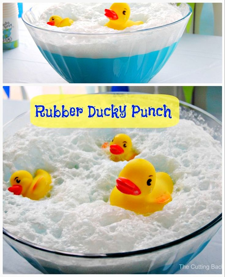Amazing Ducky Baby Shower Punch Part - 11: Rubber Duck Baby Shower Punch Recipe Video Tutorial