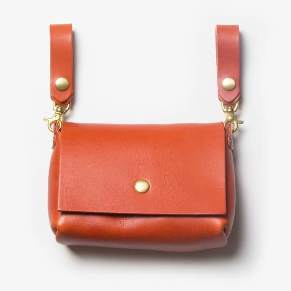Leather Belt Pouch - Red Tea