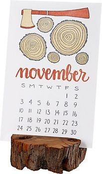 2013 One Canoe Letterpress Desk Calendar