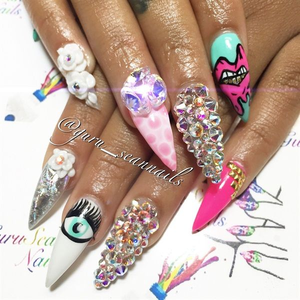 17 Best Images About Embellished Nail Art On Pinterest
