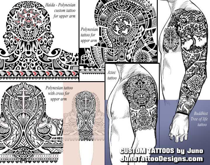haida polynesian aztec tribal tattoo, juno tattoo designs #samoantattoosband