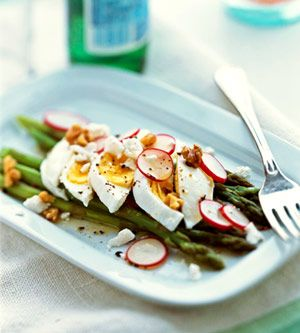 Hard-boiled eggs, radishes, and cheese make this salad work as either a side dish or a light main dish.