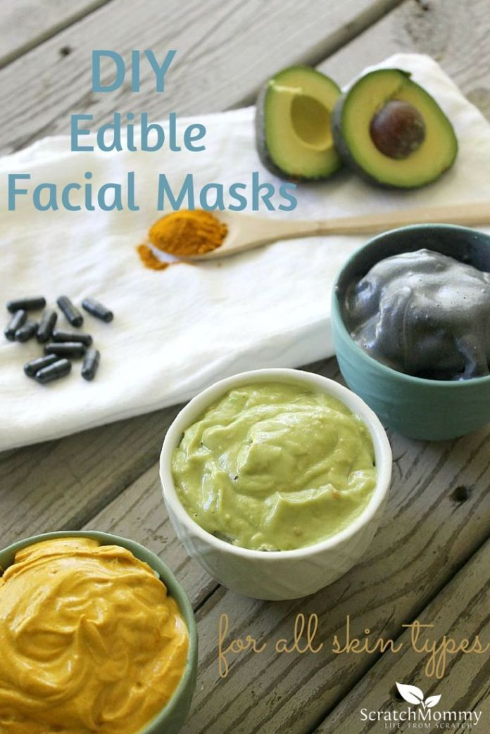 Natural & DIY Skin Care : DIY Edible Facial Mask Recipes for All Skin Types