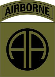 Patch of the 82nd Airborne Division (Scorpion W2).svg