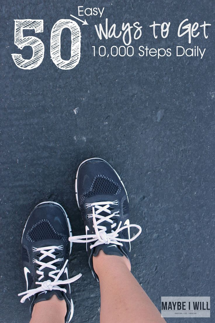 50 Ways to get 10,000 Steps Daily to get you moving and active throughout the day!