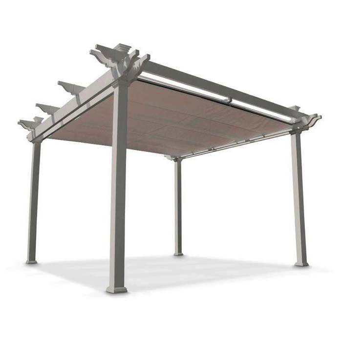 Home Depot Pergola With Retractable Roof. Perfect For Our Deck!