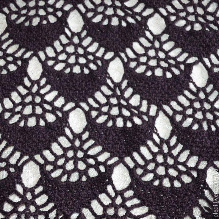 Купить Сливовая шаль - темно-фиолетовый, орнамент, слива, сливовый, сливовый цвет, шаль