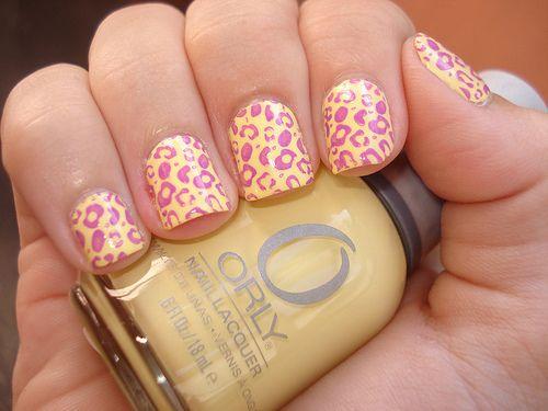 Pink and Lemon Yellow Leopard Nails: Cheetahs Nails, Nails Art, Nails Design, Leopard Nails, Nails Polish, Leopards Prints, Leopards Nails, Lemon Yellow, Cheetahs Prints