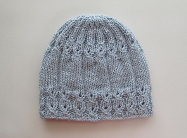 Ravelry: Blue Hat with Mock Cables for a Lady pattern by Elena Chen