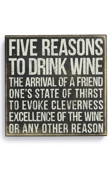 5 Reasons to Drink Wine