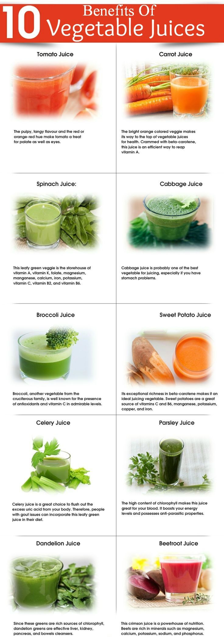 Juicing is a healthier option rather than consuming raw or cooked veggies. Assorted vegetable juices offer enormous benefits for healthy ...