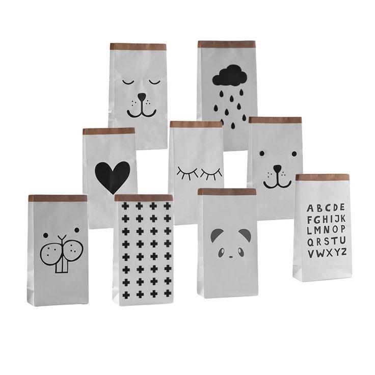 Miscellaneous Goods Heavy Kraft Paper Storage Bag Kids Toys Clothing Bag  Organizer Simple Eco Friendly