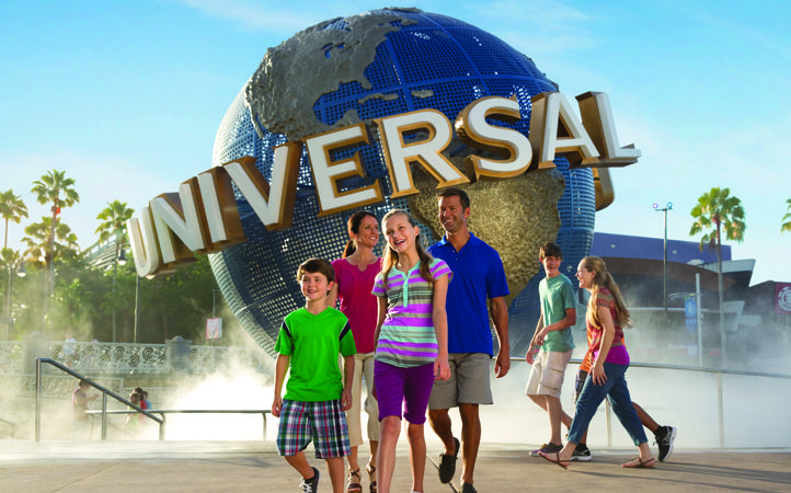 Family at Universal Orlando Resort