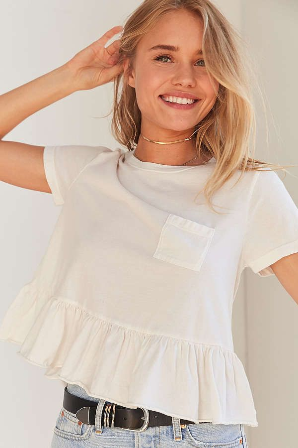 Slide View: 1: Truly Madly Deeply Babydoll Peplum Tee